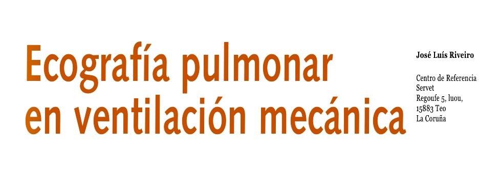 Ecografia pulmonar en ventilación mecánica
