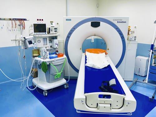 Sala de tomografía computerizada - TAC